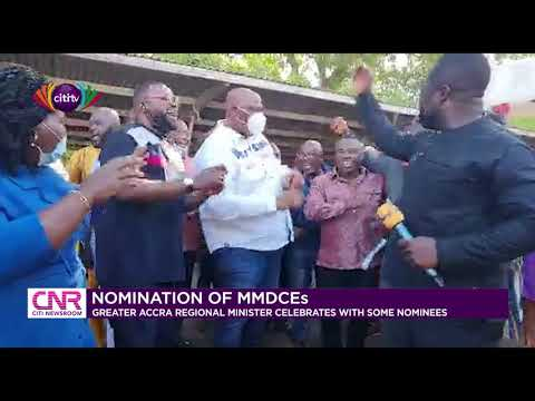 Henry Quartey celebrates with some MMDCE nominees   Citi Newsroom