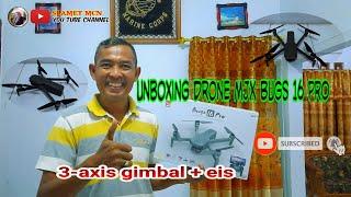 MJX BUGS 16 PRO || Unboxing dan review test indoor - Camera 4k 3 axis gimbal EIS
