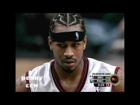 Allen Iverson 55pts FULL Highlights vs Hornets - Playoff Career HIGH! (2003)