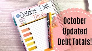 OCTOBER Updated Debt & Snowball TOTALS! || Snowball Method || Dave Ramsey Inspired