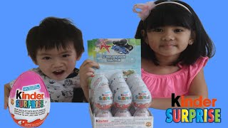 Kinder Surprise Eggs Opening Fun with Sophia