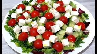 Легкий Овощной САЛАТ без Майонеза на Праздничный Новогодний стол Рецепты Салатов