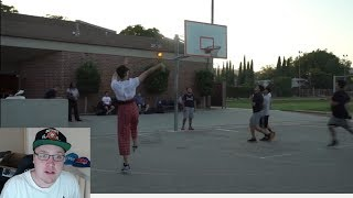 NERD (RiceGum) PLAYS BASKETBALL IN THE HOOD! REACTION