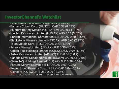 InvestorChannel's Cobalt Watchlist Update for Tuesday, September 29, 2020, 16:30 EST