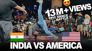 INDIA Vs AMERICA Epic Dance Battle At Red Bull Bc One 2019 India - World Finals