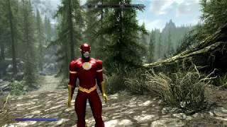 PC Elder Scrolls V Skyrim Special Edition - The Flash Mod Gameplay