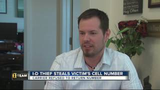 Identity thief steals victim's Social Security number, uses it to take his cell phone number