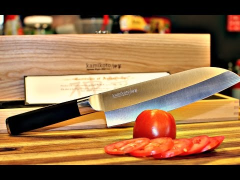 Kamikoto Santoku Chef Knife Unboxing and Review – knife review – chef knife review – kamikoto knives