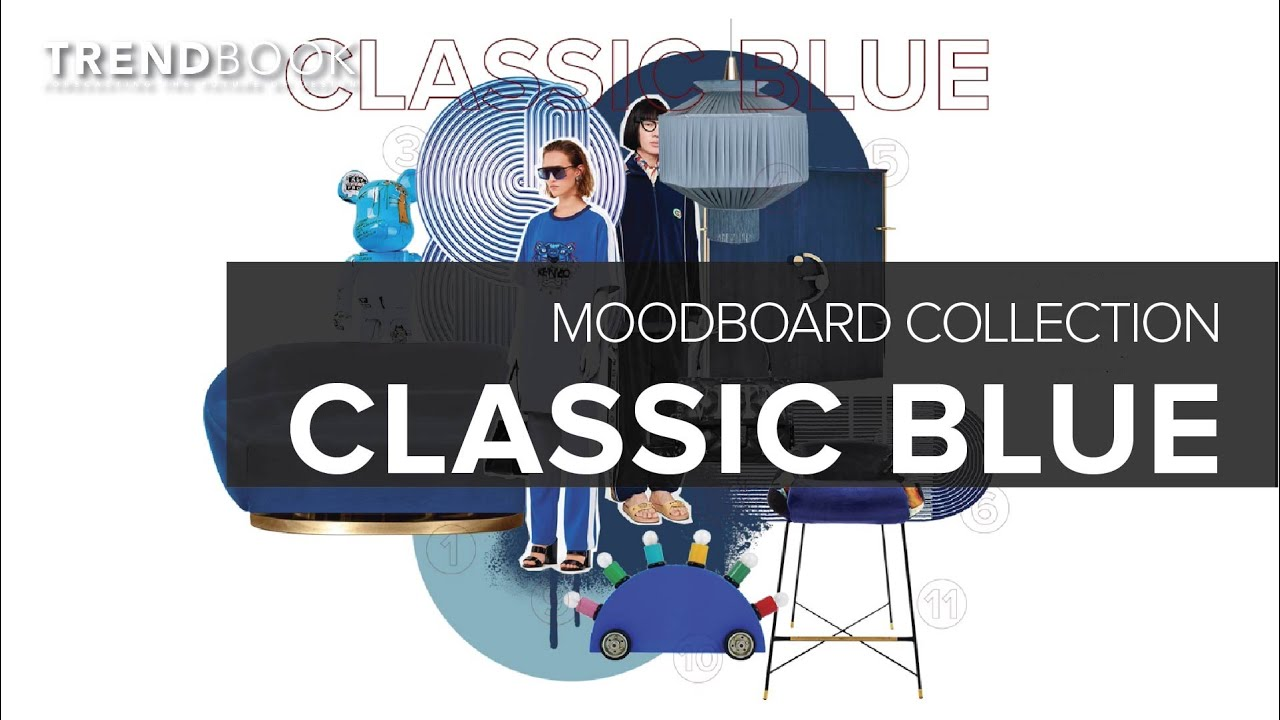 Classic Blue Color Trend I Moodboard Collection