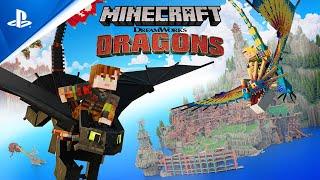 PlayStation Minecraft - Dreamworks Dragons DLC Available Now | PS4 anuncio