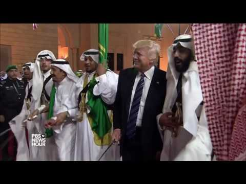 After tone-shifting speech in Saudi Arabia, Trump broaches peace prospects in Israel
