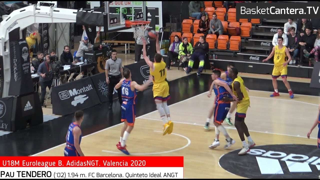 PAU TENDERO (´02) 1.94 m. FC Barcelona. Quinteto Ideal Euroleague ANGT. Valencia20 (BasketCantra.TV)