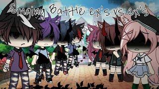 Singing Battle ex's VS ex's ||Gacha Life|| part 2 of singing battle B Vs G