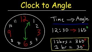 Clock Aptitude Reasoning Tricks & Problems - Finding Angle Between The Hands Of A Clock Given Time