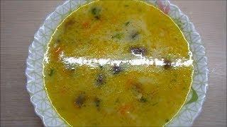 Суп.  Рецепт вкусного грибного супа с шампиньонами.Очень вкусно!