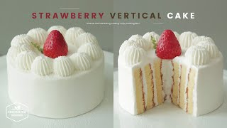 딸기 롤 생크림 케이크 만들기 : Strawberry Vertical Layer Cake Recipe | Cooking Tree