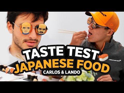 Carlos Sainz and Lando Norris Try Japanese Food