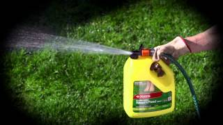 Yates Weed 'n' Feed Hose-On (TVC): kills weeds and feeds lawns in one easy step