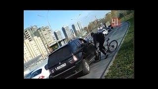 Автохам против велосипедиста