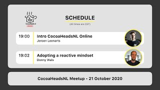 CocoaHeadsNL Online Meetup, 21 October 2020