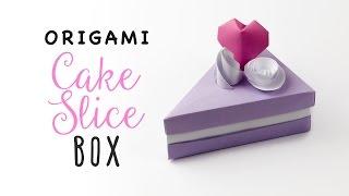 Origami Cake Slice Box Tutorial ♥︎ Triangular Box ♥︎ Paper Kawaii