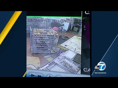VIDEO: Armed robber shoots Buena Park doughnut shop worker | ABC7