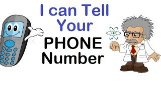 I Can Guess Your Phone Number (10 Digits) | 100% Working | Math Magic Trick | Genius Questions