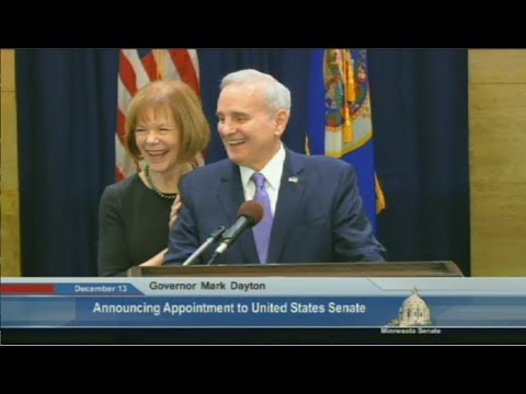 Gov  Dayton Picks Lt  Gov Smith To Replace Sen  Franken- Full News Conference