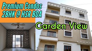 Garden View 2BHK Premium Condo in HSR Layout BDA Semi Furnished | 4K Video