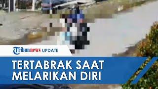 Viral Video Detik-detik Wanita Tertabrak Motor saat Lari Keluar Rumah, Panik karena Gempa di Mamuju