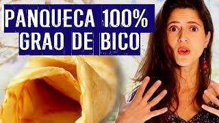 Receita de panqueca vegana - 100% grão de bico