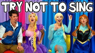 TRY NOT TO SING ALONG TANGLED VS FROZEN MOVIE SONGS. (Totally TV Dress Up Characters)