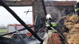 preview picture of video 'Ścinawa. Pożar stodoły w Dębcu'