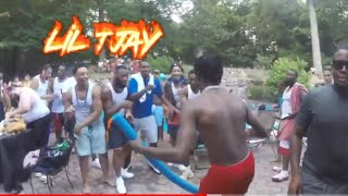 Poiison An Friends Pool Party Featuring  (Lil Tjay) Switch Lanes Behind The Scenes