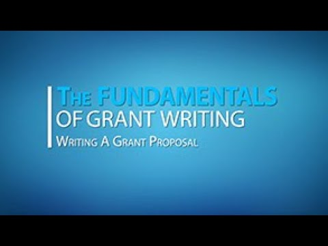 Lesson 3: Writing Your Grant Proposal