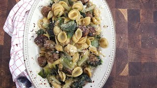 Pasta with Meatballs and Escarole