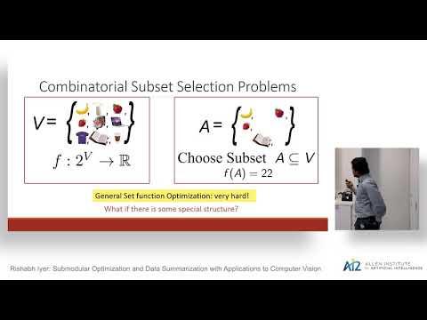 Submodular Optimization and Data Summarization with Applications to Computer Vision Thumbnail