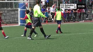 CD BEHOBIA 1 - 5 AC MILAN I XI torneo de escuelas del Bidasoa organizado por el CD Mariño