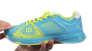 Wilson Rush NGX Women's Shoes Pink video