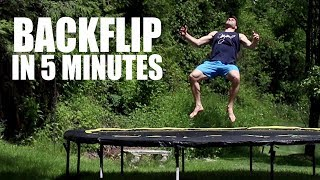 Learn How to Backflip On a Trampoline In 5 Minutes | ASAP