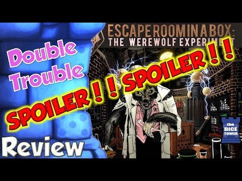 SPOILERS!!! Escape Room In a Box: The Werewolf Experiment - Double Trouble SPOILERS Review
