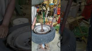 Coats Vintage Manual Tire Machine Demo