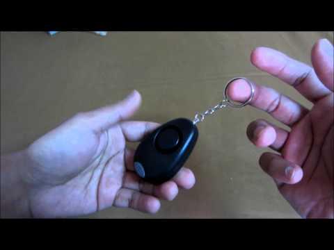 Vigilant Personal Alarm Keychain with LED Light