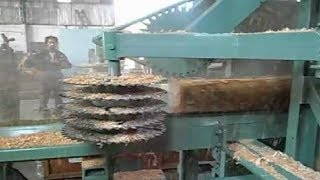 Amazing Fastest Wood Sawmill Machines Working - Wood Cutting Machine Modern Technology