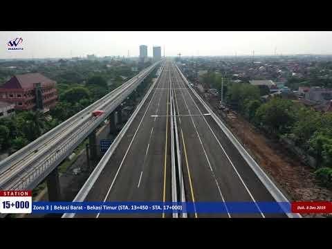Video Drone #KaryaWaskita Proyek Jalan Tol Jakarta-Cikampek II Elevated - 8 Desember 2019