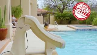c16271583 For SR Smith SlideAway Pool Slide in Action