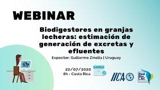 Biodigestores en granjas lecheras: estimación y generación de excretas y efluentes