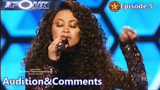 Evvie Mckinney sings  Rise Up &Comments The Four S01E05 Ep 5