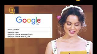 Kangana Ranaut answering most searched question about her on Google