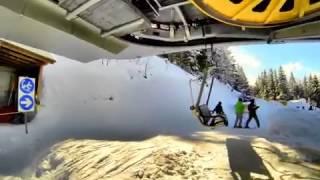 preview picture of video 'Innerwengen, der Lift vom Zielgelände der Lauberhornrennen an den Start des Slalomhang'